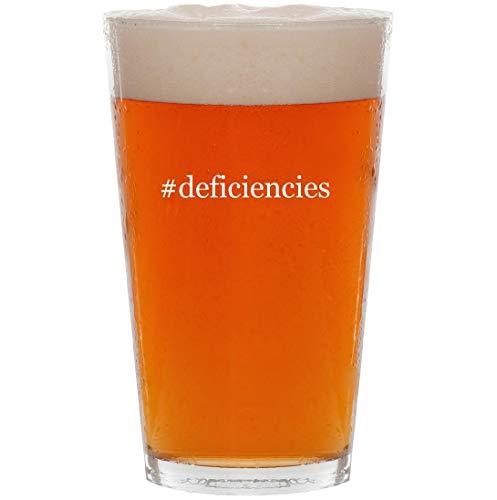 #deficiencies - 16oz Hashtag Pint Beer Glass