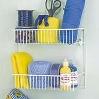 Price comparison product image Wire Wall Rack2-Tier Wht
