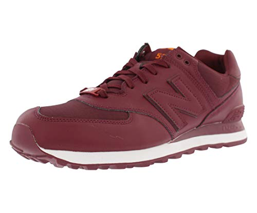 New Balance Men's 574 Fashion Sneaker, Burgundy, 10.5 D US