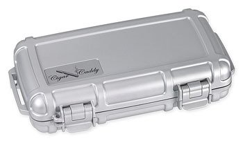 Cigar Caddy 5 Stick - NEW CIGAR CADDY 5 STICK TRAVEL HUMIDOR - SILVER MATTE