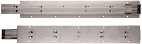 Sugastune TSS-3 304 Stainless Steel Drawer Slide, Full Extension, Positive Stop, 31-1/2'' Closed, 32-29/32'' Travel, 143lbs/Pack (1 Pair) by LAMP by Sugatsune