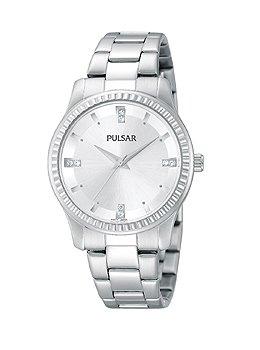 Pulsar Women's PH8103 Easy Style Collection Analog Display Japanese Quartz Silver Watch