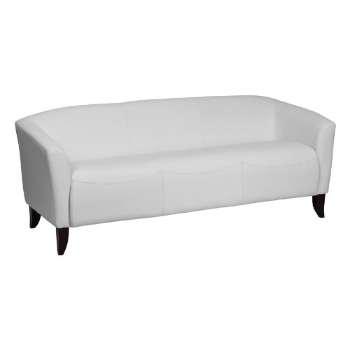 Flash Furniture Hercules Imperial Series White Leather Sofa [111-3-WH-GG]