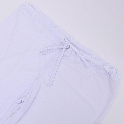chic Sarouel Yoga Pyjama Hommes Baggy Souple Pantalon Hiphop Danse Casual  Blanc Pants Jogging Chic Sport Twqfdn44 e8dba73326f