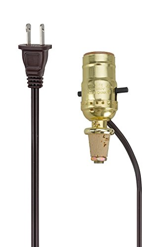 Aspen Creative 21018, Make-A-Wine Bottle Lamp Kit in Polished Brass, 2 Pack