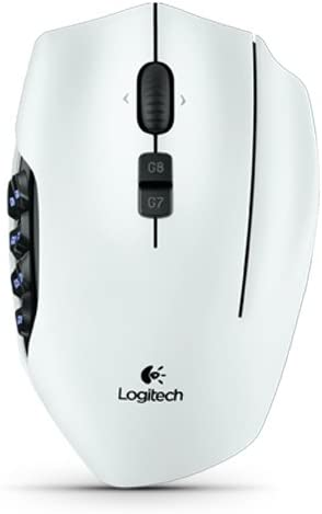 Amazon Com Logitech G600 Mmo Gaming Mouse White Computers