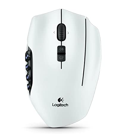 8a66b078c3f Amazon.com: Logitech G600 MMO Gaming Mouse, White: Computers ...