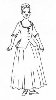 Costume Au Xviiie (Woman's Juste-au-corps pattern(Size 18))