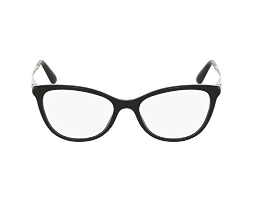 (Dolce&Gabbana DG3258 Eyeglass Frames 501-54 - Black DG3258-501-54)