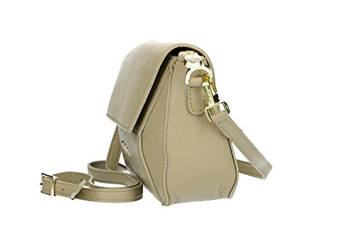 in Made crossbody CARDIN VN2709 PIERRE clutch Italy Bag in beige woman leather nSwTCSFzqc