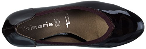 Heels Toe Closed UK Women's Red Black Tamaris 22403 5 Patent Vine 525 xnSRq