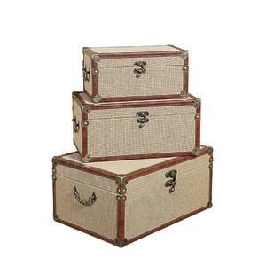 Decorative Canvas Suitcase Set of 3