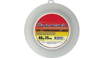 Ohero 100% Fluorocarbon Leader 40 Lb 25 Yards Spool
