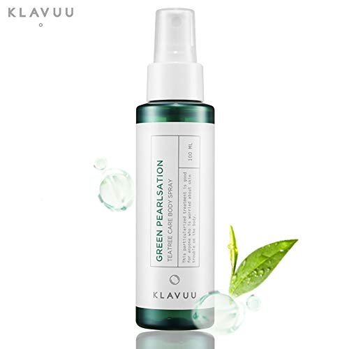 GREEN PEARLSATION TEA TREE CARE BODY SPRAY, Purifying Mist type Lotion for Soothing and Reducing Problem Skin such as Back and Chest Acne (100 ml / 3.38 fl.oz)