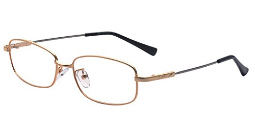 Kelens Classic Rectangular Metal Frame Clear Lens Business Eye - Glasses Reading For Kids Fake