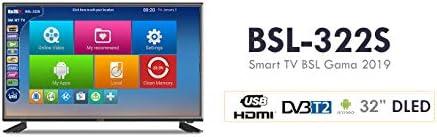 BSL Television 32 Pulgadas | Smart TV | Sistema Operativo Android 7.0 | Sintonizador DVBT2 | Conectividad WiFi y RJ45 | HD Ready | 8GB de Memoria | USB Multimedia: Amazon.es: Electrónica