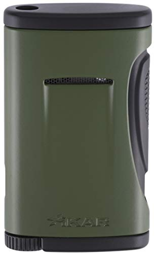 Xidris Single Torch Flame Cigar Cigarette Lighter in an Attractive Gift Box Warranty Olive Drap ()