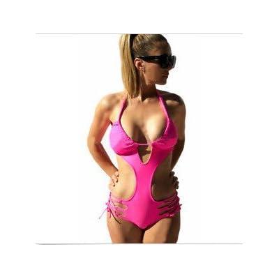 Ups pad_bel hôtel moderne et confortable set-ups de bikini maillot de bain Maillot de tampon de bandage, la plage ,rouge XL