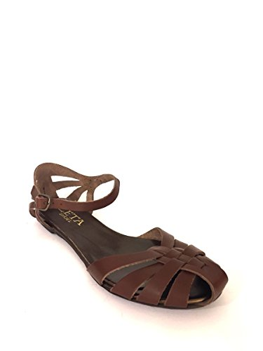 ZETA SHOES - Sandalias de vestir de Piel para mujer * marrón