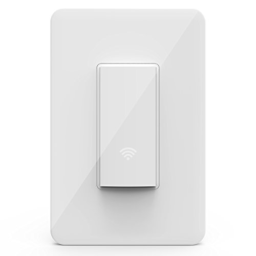 KMC Smart Wi-Fi Light Switch, Wireless Smart Lighting Control, No Hub Required, Single Pole, Requires Neutral Wire, Compatible with Alexa and Google ()