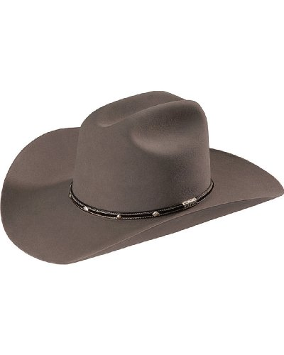 - Stetson Men's Angus 6X Fur Felt Western Hat Grey 7 1/2