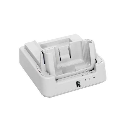 Socket Mobile HC1701-1395 SoMo 655Rx Sync-Charge Cradle Antimicrobial-White with USB Sync Cable and 3A AC Adapter by Socket Mobile