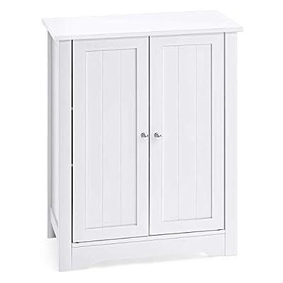 AOOU Bathroom Floor Cabinet, Durable Bathroom Storage Cabinet with Double Door Adjustable Shelf Cabinet, Side Cabinet 31.5 x 23.6 x 11.8 inches