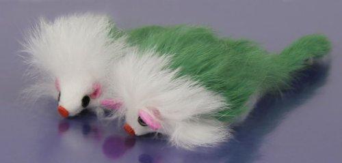 NATURAL 2pk Fur Mice – Green, My Pet Supplies