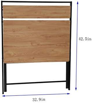 Youmymine Folding Study Computer Desk – Writing Desk Portable Small Lazy Foldable Table Laptop Desk for Small Space,Free Installation Home Office Desk (Khaki) 312SvTJJ9jL
