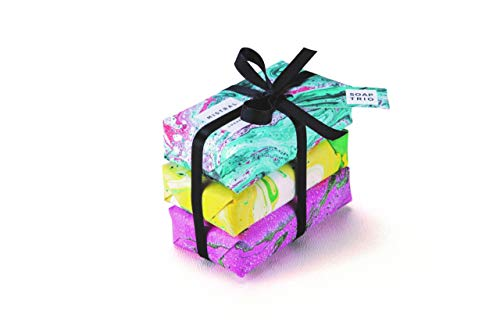 l Bar Soap Marble Wrap 3 Soap Trio Gift Set Olive Oil and Shea Butter - Made in France, 3 x 1.59 Ounce ()