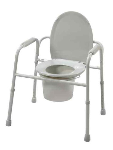 Deluxe All In One Steel (CMS 1366B Commode - 3 In 1 Deluxe Steel with Deep Seat Assembled--Drive-)