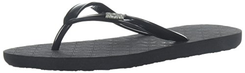 Roxy Girls' RG Viva Sandal Flip-Flop, Black, 5 M US Big - Girls Flip Flop Black