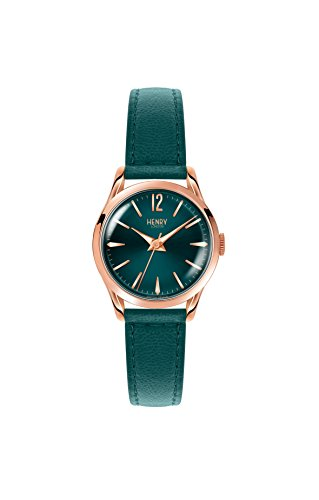 Henry London Ladies Stratford Watch with Analogue Display and Teal Leather Strap HL25-S-0128