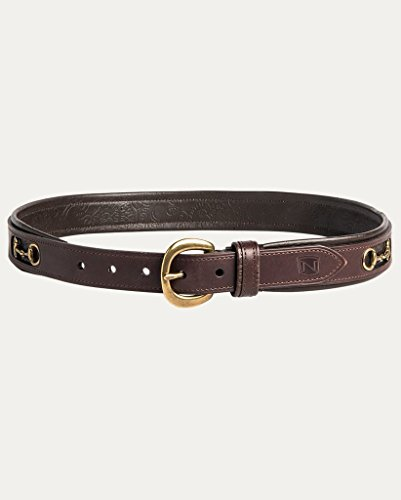 Noble Outfitters, Womens English Belt, Havana Brass, Medium