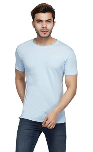Urban Age Clothing Co. Cotton Lycra Men's Raw Neck T-Shirt Half Sleeve