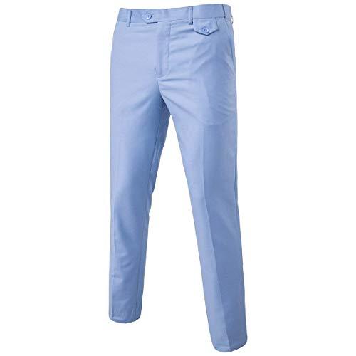 Battercake Frontale Lavoro Piatto Pantaloni Da Casual In Cono Comodo Eleganti Cotone Hellblau A Uomo 88rvPqwSp
