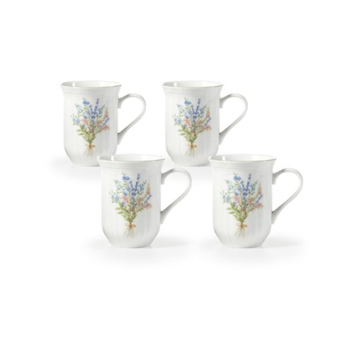 Mikasa® Botanical Bouquet 14-oz. Mugs - Set of 4