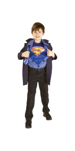 [Clark Kent Superman Reverse Large Costume] (Superman Clark Kent Halloween Costume)