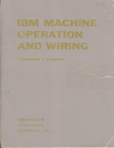 IBM Machine Operation and Wiring