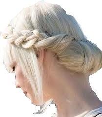 ACCESSORIO PER CAPELLI FASCIA EFFETTO TRECCIA SPESSA BIONDO PLATINO Vanessa Grey Hair Designs