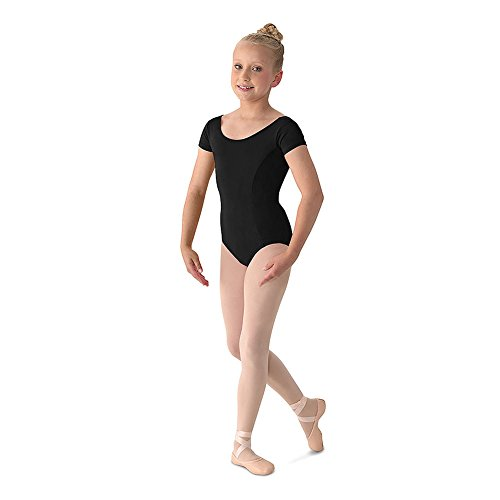 Mirella Youth Cap Sleeve Leotard, Black-14 by Bloch (Image #1)