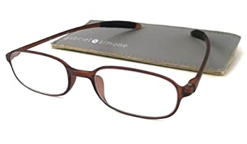 28c2ace2675 Image Unavailable. Image not available for. Color  Gabriel + Simone Reading  Glasses Flexi-Petite Brown