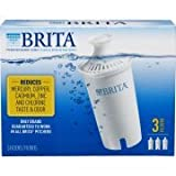 Brita 3 Count Water Filter Pitcher Advanced Replacement Filters (Packaging May Vary)