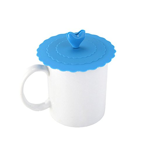 MIJORA-Silicone Cute Anti-dust Glass Cup Cover Coffee Mug Suction Seal Lid Cap Safe New random color