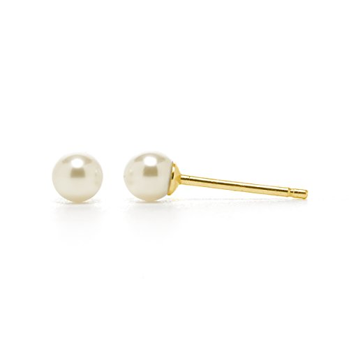 14k Gold 3mm Pearl - 5