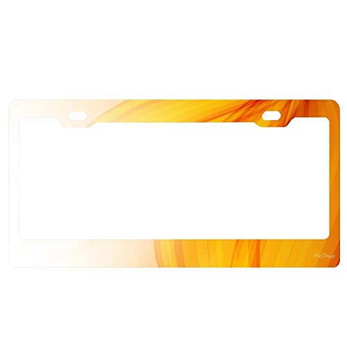 (YEX Abstract Autumn Silk License Plate Frame Car License Plate Covers Auto Tag Holder 6