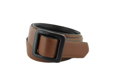Metal Free Travel Belt (Large (40-42) Black/Brown by Thomas Bates (Image #5)