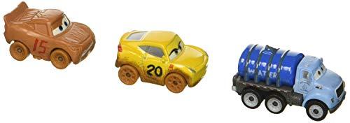 Disney Pixar Cars Mini Racers Vehicles, 3 Pack - Muddy Cruz, Muddy Lightning McQueen, Mr Drippy Exclusive (Mattel Disney Pixar Cars 3 Mini Racers)