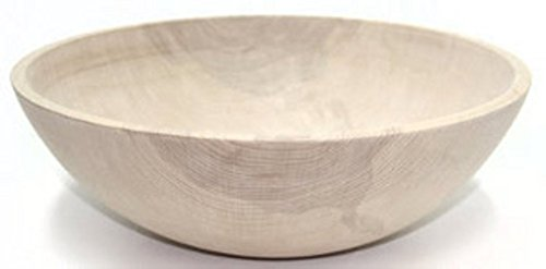 (17 Inch Unfinished Solid Beech Wood Bowl - Holland Bowl Mill)
