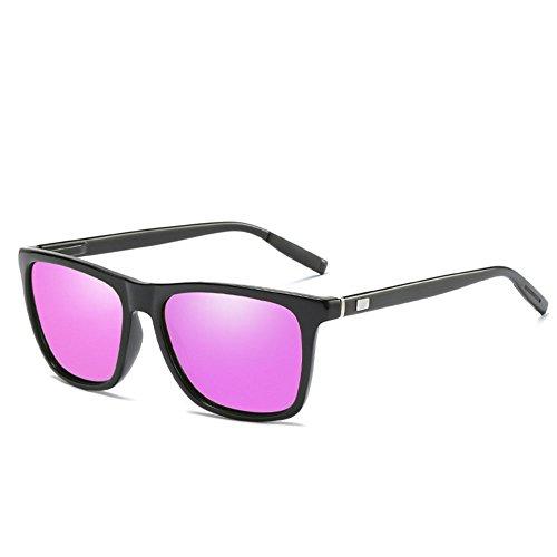 en Lunettes femmes des unisexes polarisées aluminium hommes Violet mode pour de de mode colorées de soleil vintage tqZxCtwr
